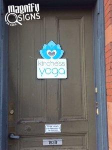 Kindness Yoga Door Signs in Denver