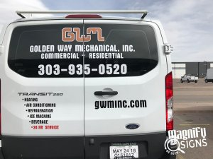 GWM Van Wraps Back View