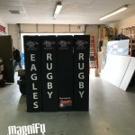 Eagles Rugby Trade Show Signs