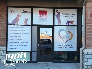 Veterinary Center Glass Door Sign Front