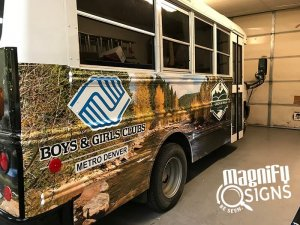 Boys & Girls Clubs Van Wraps Side