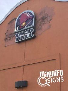 TACO Bell Outdoor Sign in Denver