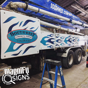 Truck Wrap South West Concrete Pumping