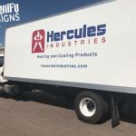 Truck Wraps Hercules Industries Side View