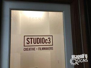 STUDIOc3 Glass Door Banner