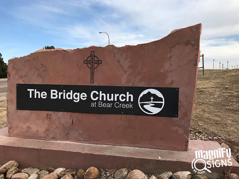 The Bridge Church monument signs in Denver