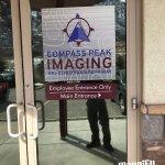 Compass Peak Imaging Office Door Signs in Denver & Englewood