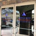 Compass Peak Imaging Office Door Signs in Denver