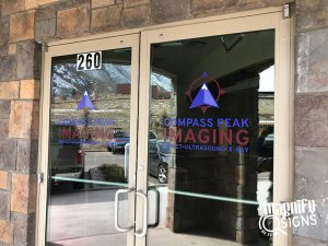 Compass Peak Imaging Office Door Signs in Denver