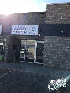 Valor Outdoor Sign in Denver