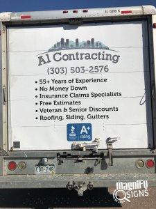 Al Contracting Vehicle Wraps in Denver & Englewood