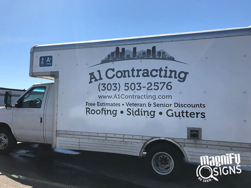 Al Contracting Vehicle Wraps Custom Business Signs