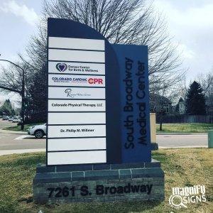 South Broadway Medical Center Monument Sign in Denver