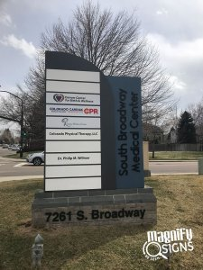South Broadway Medical Center Monument Sign