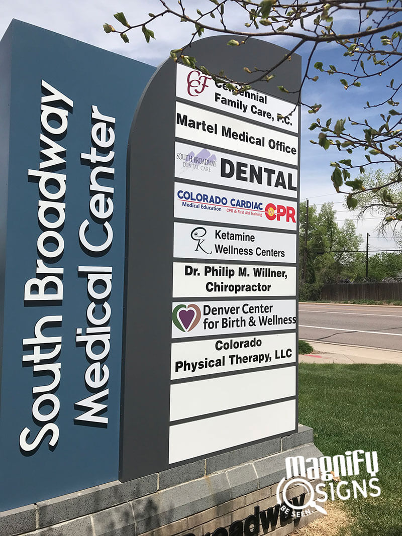 South Broadway Medical Center Monument Sign Custom