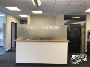 Print Station Reception Sign in Denver