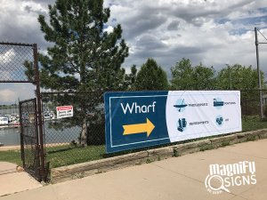 Wharf Directional Signs in Denver and Englewood