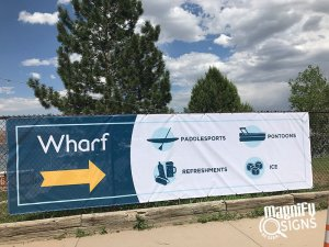 Wharf Directional Signs in Denver