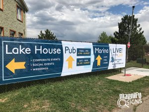 Lake House directional Signs in Denver
