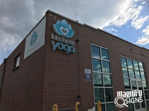 Kindness Yoga Building Signs in Englewood