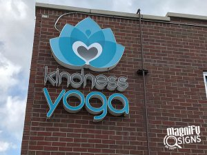 Kindness Yoga Building Signs in Denver