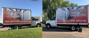 Storage Sense Truck Wrap