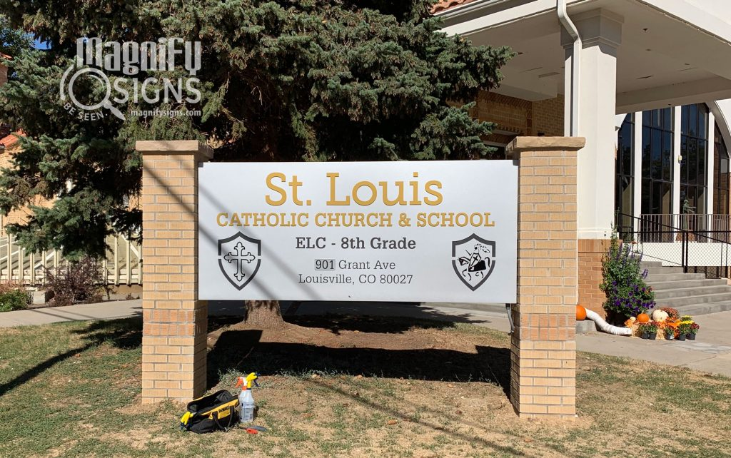 St. Louis Catholic Church sign | Magnify Signs