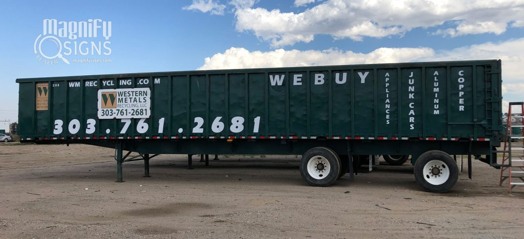 Western Metals Recycling sign | Magnify Signs