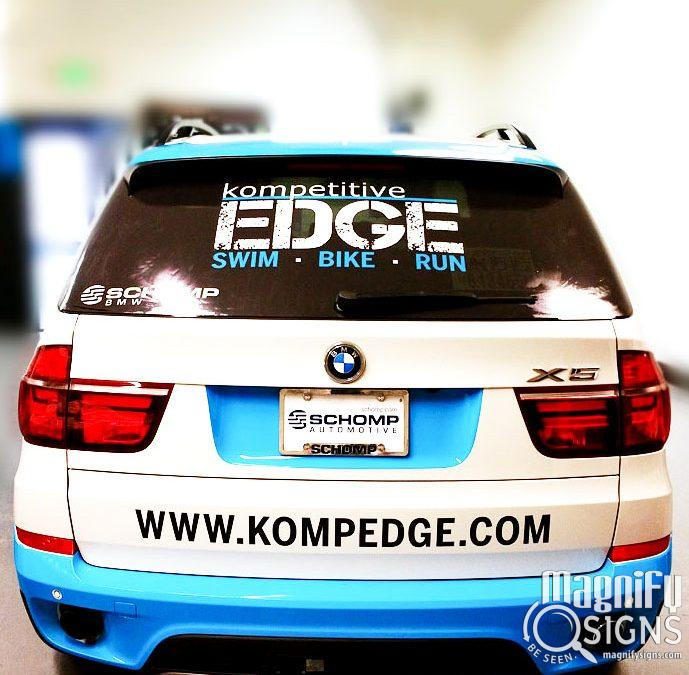 It's BMW X5 Partial Car Wraps for KompetitiveEdge of Sheridan CO!