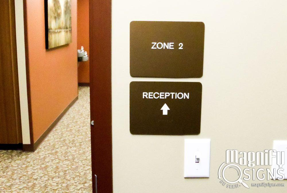 Directional signs for Offices